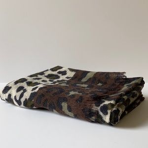 Wool Leopard Print Scarf by Bindya